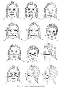 Thompson Indian Facial Tattoos