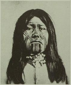 Mohave Indian with Facial Tattoo